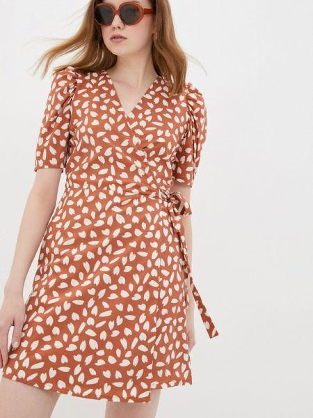Однобортное коричневое платье Compania Fantastica
