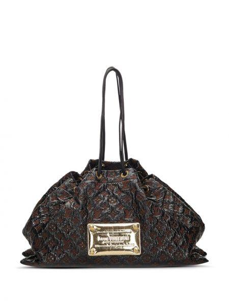 Кожаная сумка на плечо черная Louis Vuitton