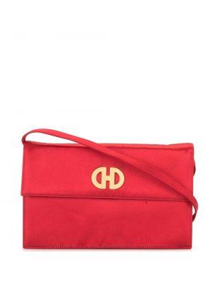 Красная сумка на плечо металлическая на молнии с карманами Céline Pre-owned