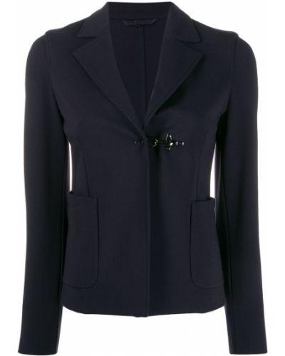 Синий пиджак с карманами Fay
