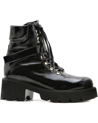 Кожаные ботинки - черные Prego