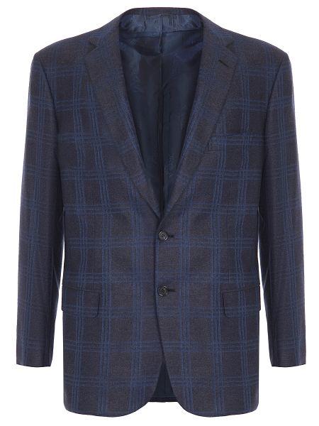 Классический пиджак в клетку с карманами Brioni