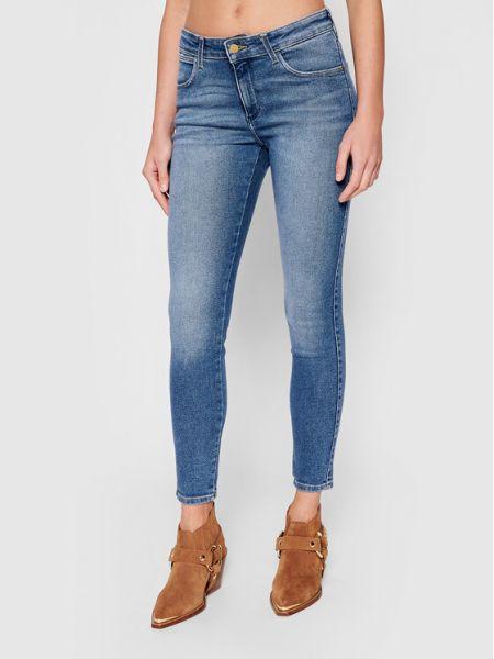 Niebieskie jeansy skinny Wrangler