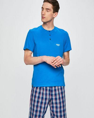 Piżama długo niebieski Henderson