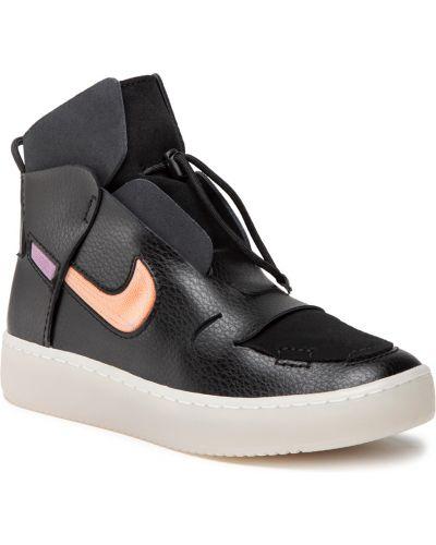 Buty sportowe skorzane - czarne Nike