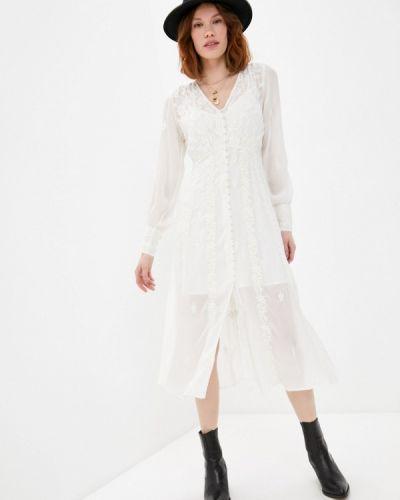 Кружевное белое платье The Kooples