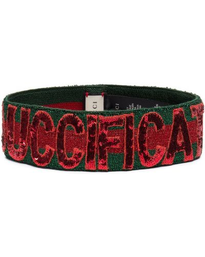 Opaska na głowę na głowie zielony Gucci