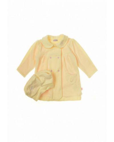 Пальто желтый набор фламинго текстиль