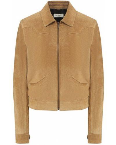 Кожаная куртка бархатная замшевая Saint Laurent