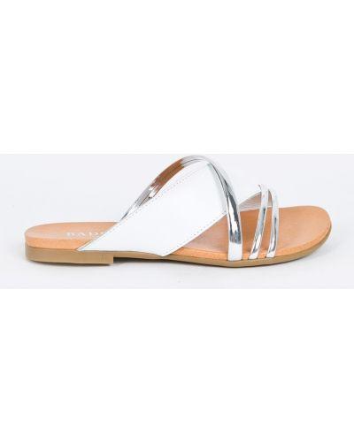 Сандалии кожаный серебряного цвета Badura