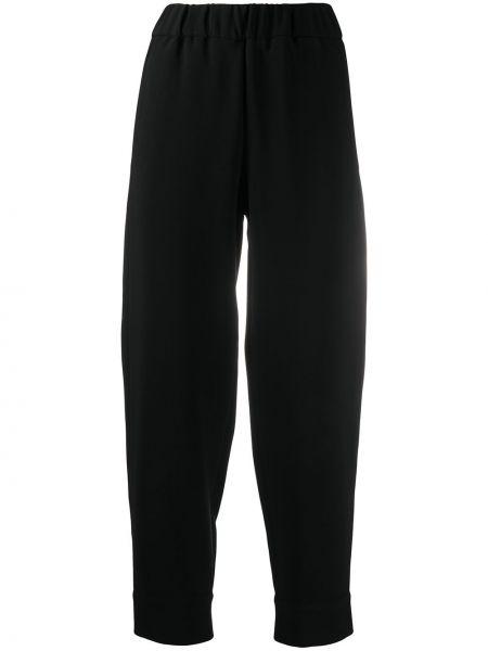 Брючные черные укороченные брюки с карманами Alberto Biani