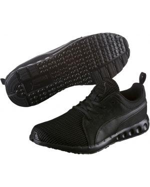 Черные кроссовки беговые сетчатые с сеткой Puma