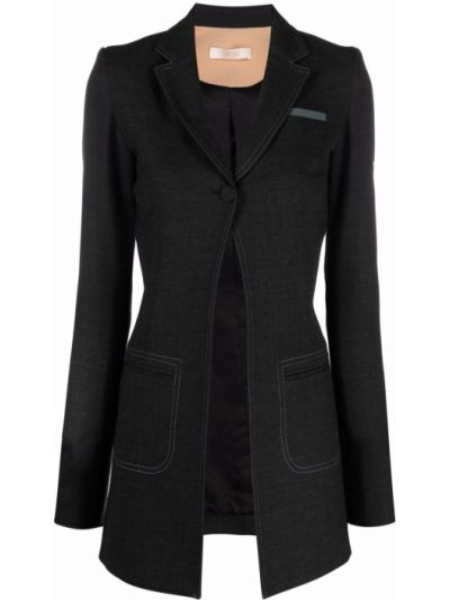 Черная шерстяная куртка Ssheena