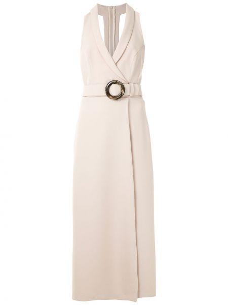Платье миди с завышенной талией с V-образным вырезом Framed