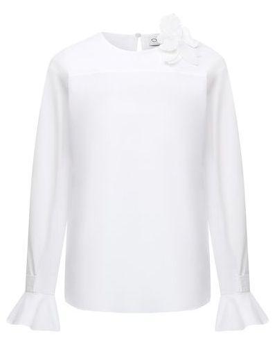 Хлопковая белая блузка Oscar De La Renta