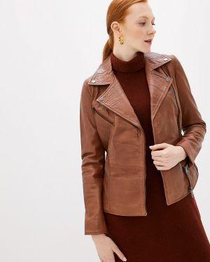 Кожаная куртка - коричневая La Reine Blanche