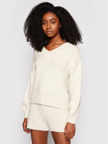 Sweter - beżowy Na-kd
