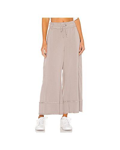 Коричневые брюки с карманами свободного кроя Free People