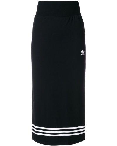 Юбка миди в полоску со шлицей Adidas