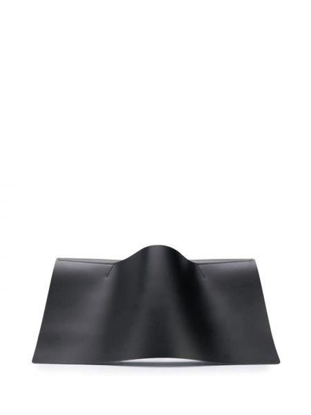 Кожаная черная кожаная сумка Venczel