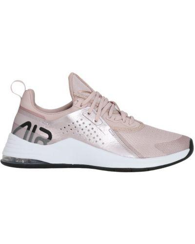 Różowe sneakersy bawełniane z wycięciami Nike