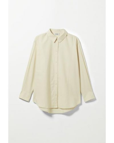 Оксфордская рубашка - белая Weekday