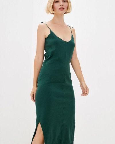 Прямое зеленое платье Nataclub