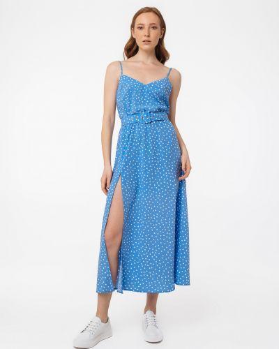 Платье в горошек - голубое Magnetic