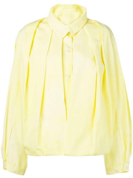 Хлопковая блузка - желтая Lemaire