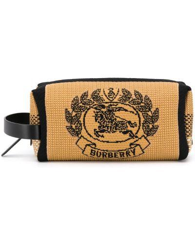 Кожаная сумка вязаная на молнии Burberry