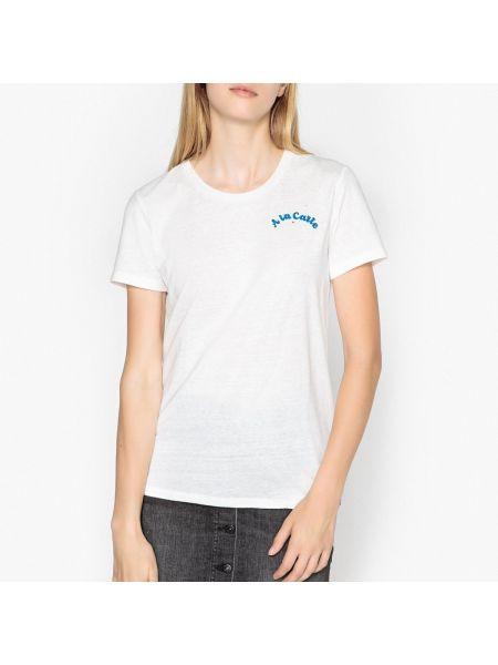 Футбольная футболка винтажная из вискозы с круглым вырезом Maison Scotch
