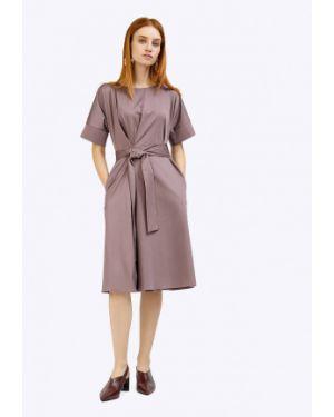 Платье с поясом платье-сарафан с вырезом Emka
