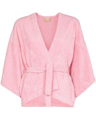 Różowy pareo bawełniany Terry