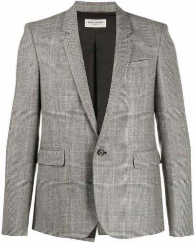 Jednorzędowy kurtka z kieszeniami na przyciskach Saint Laurent