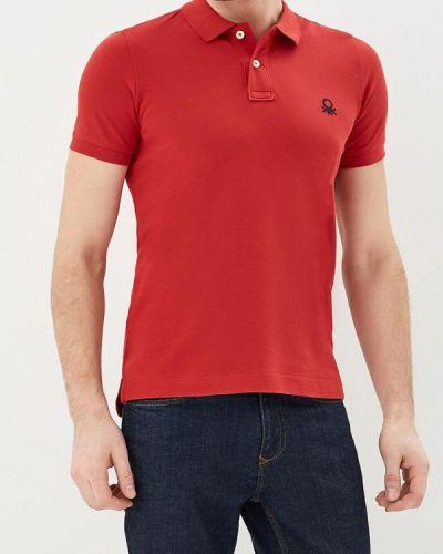 Красное поло United Colors Of Benetton