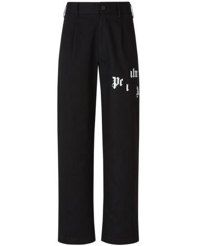 Czarne spodnie materiałowe z printem Palm Angels