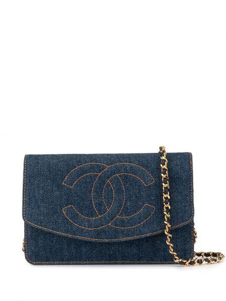 Сумка на цепочке джинсовая на плечо Chanel Pre-owned