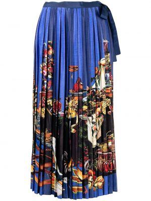 Синяя юбка из вискозы Stella Jean