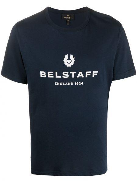 Ciemnoniebieski bawełna bawełna koszula krótkie z krótkim rękawem krótkie rękawy Belstaff
