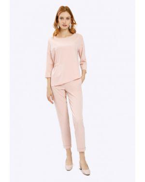 Зауженные классические брюки - розовые Emka