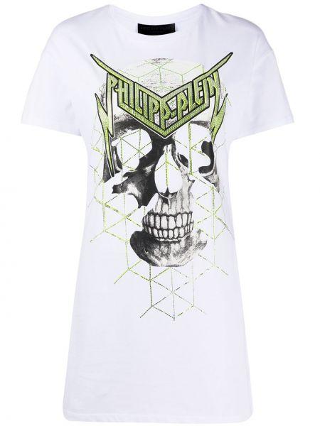 Платье мини футболка прямое Philipp Plein