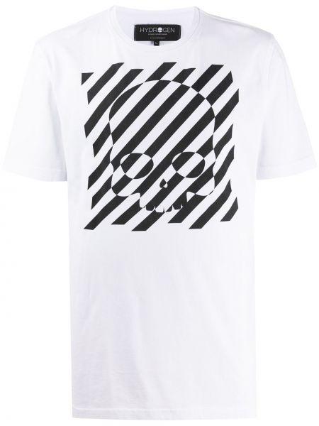 Koszula krótkie z krótkim rękawem z paskami w paski Hydrogen