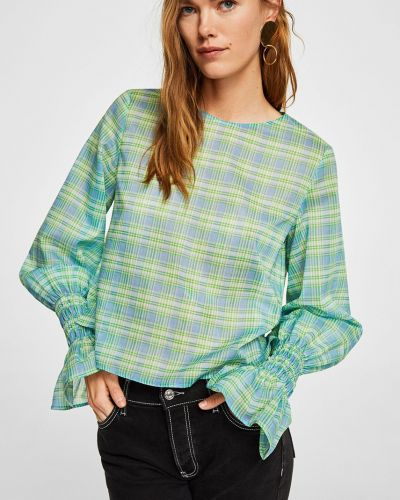 Зеленая блузка Mango