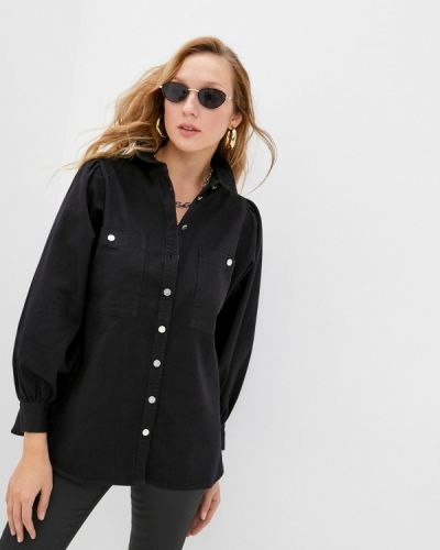 Черная джинсовая рубашка Topshop