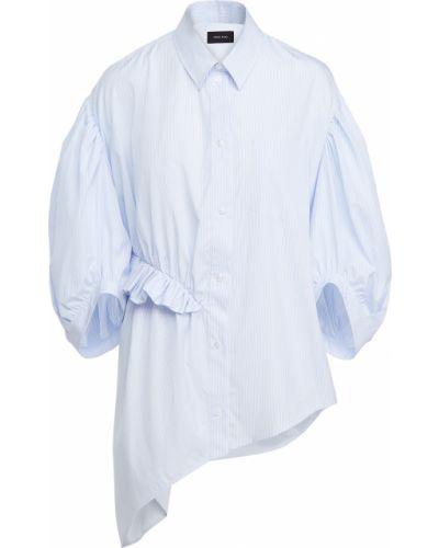 Niebieska koszula bawełniana ocieplana Simone Rocha
