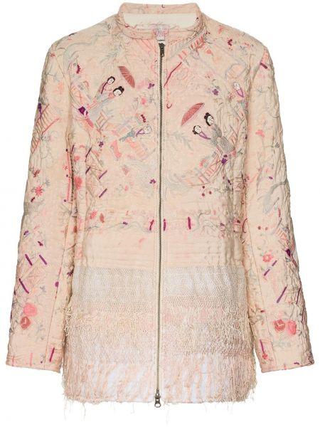 Хлопковая розовая куртка на молнии By Walid