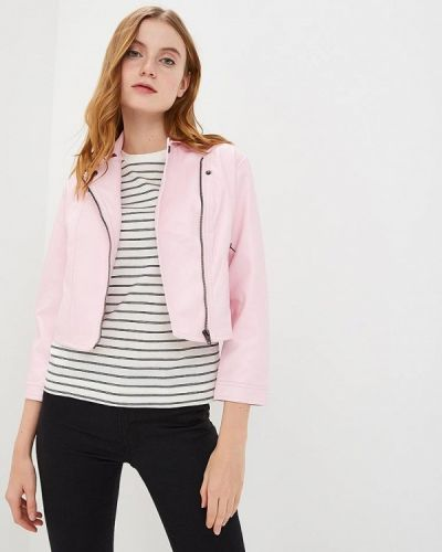 Кожаная куртка - розовая Sh
