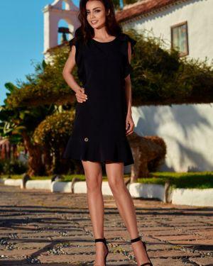 Czarna sukienka z falbanami oversize Lemoniade