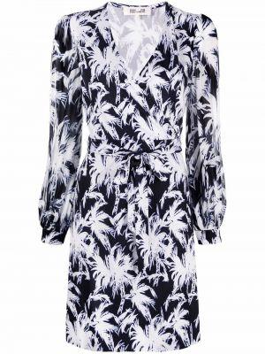 Biała sukienka z długimi rękawami Dvf Diane Von Furstenberg
