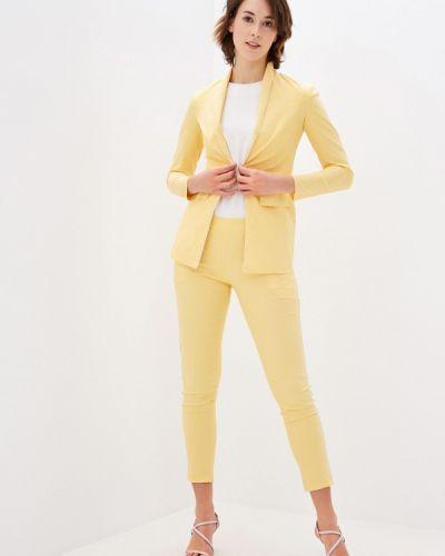 Костюмный желтый брючный костюм Pink Summer